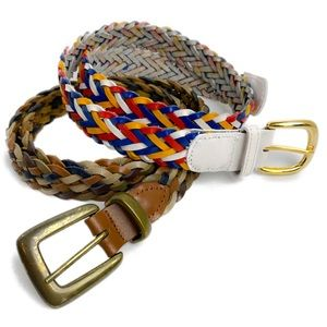 Accessories - 2 Braided Leather Belts in Size Medium